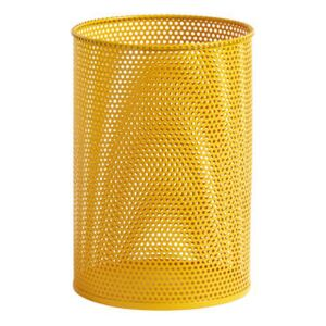 Perforated Wastepaper basket - / Perforated metal by Hay Yellow
