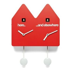 DOUBLE Q CUCKOO CLOCK - Red