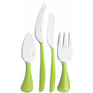 GLAMOUR 4 PIECE CHEESE SET - Apple Green