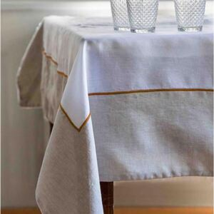JACKIE TABLECLOTH WHITE LINEN
