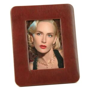 LEATHER PHOTO FRAME - Brown Tamp
