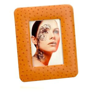 LEATHER PHOTO FRAME - Honey Ostrich