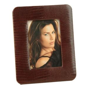 LEATHER PHOTO FRAME - Brown Thesius