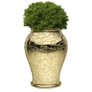 MING PLANTER AND CHAMPAGNE COOLER METAL FINISH - Gold