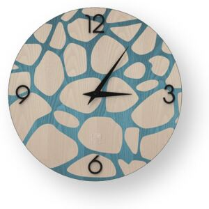NATURE STONES INLAYED WOOD CLOCK - 40 CM / Colours