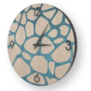 NATURE STONES INLAYED WOOD CLOCK - 50 CM / Colours