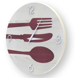 OBJECTS CUTLERY INLAYED WOOD CLOCK - 50 CM / Colours