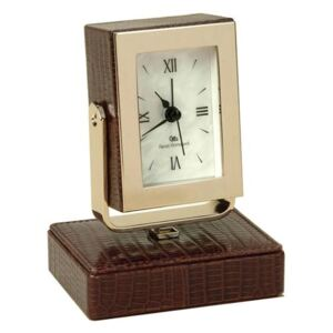 THESIUS BROWN TABLE CLOCK