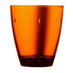 UNO POLYCARBONATE 33CL GLASS SET - Amber