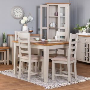 Chester Stone Painted Oak 1.6m Butterfly Extending Dining Table