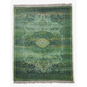 Large Recycled Forest Illusion Rug - green