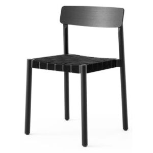 Betty TK1 Stacking chair - / Linen straps by &tradition Black