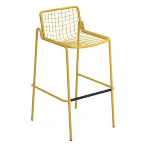 Rio R50 Stackable bar stool - / H 74 cm - Metal by Emu Yellow