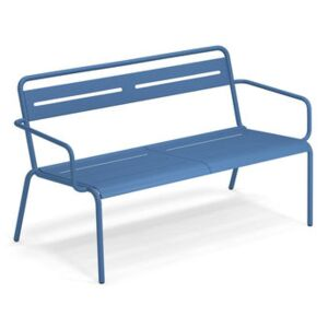 Star Stackable bench - / With armrests - L 129 cm by Emu Blue