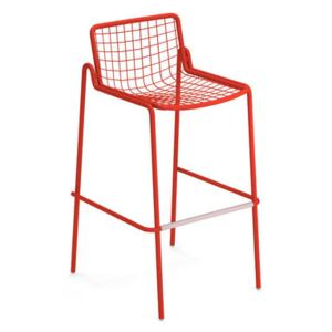 Rio R50 Stackable bar stool - / H 74 cm - Metal by Emu Red