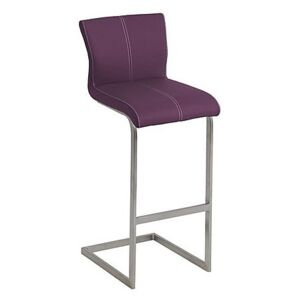 Ideas Bar Stool with Cantilever Base - Purple