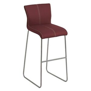 Ideas Bar Stool with Standard Base - Red