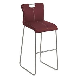 Ideas Handle-back Bar Stool with Standard Base - Red