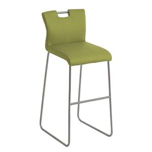 Ideas Handle-back Bar Stool with Standard Base - Green