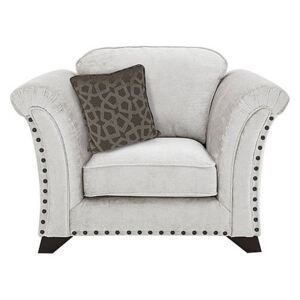 Holly Fabric Armchair With Studs