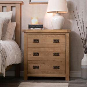 Winchester Oak Chest of 3 Drawers
