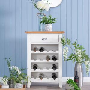 Chester White Painted Oak Wine Cabinet