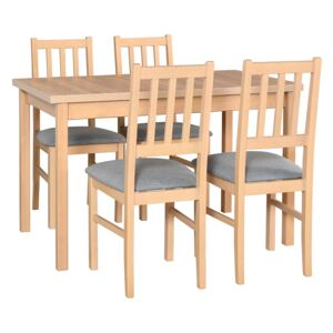 FURNITOP Dining Set DX2 - Table MAX 10 + Chairs BOS 4 ( 4pcs.)