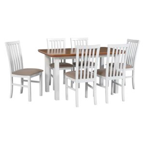 FURNITOP Dining Set DX29 - Table WENUS 2S + Chairs MILANO 1 ( 6pcs.)