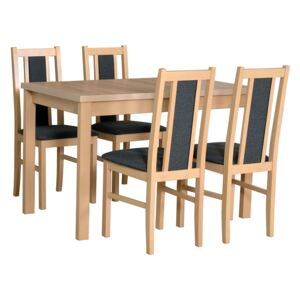 FURNITOP Dining Set DX8 - Table ALBA 1 + Chairs BOS 14 ( 4pcs.)