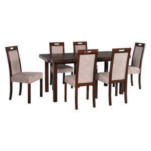 FURNITOP Dining Set DX38 - Table WENUS 5 + Chairs ROMA 5 ( 6pcs.)