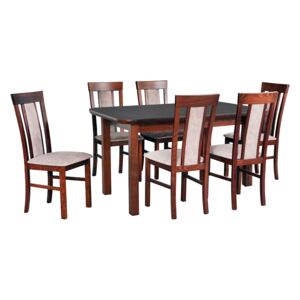 FURNITOP Dining Set DX35 - Table WENUS 5S + Chairs MILANO 8 ( 6pcs.)