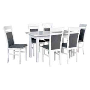 FURNITOP Dining Set DX33 - Table WENUS 2S + Chairs MILANO 6 ( 6pcs.)