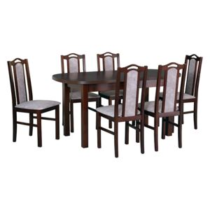 FURNITOP Dining Set DX16 - Table WENUS 1 + Chairs BOS 9 ( 6pcs.)