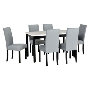 FURNITOP Dining Set DX36 - Table MODENA 1P + Chairs ROMA 2 ( 6pcs.)