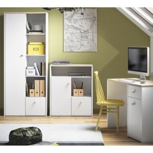 FURNITOP Youth Furniture CESAR 2 White + Fjord Beech