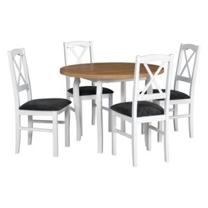 FURNITOP Dining Set DX12 - Table POLI 3 + Chairs NILO 11 ( 4pcs.)
