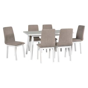 FURNITOP Dining Set DX39 - Table OSLO 5 + Chairs HUGO 5 ( 6pcs.)