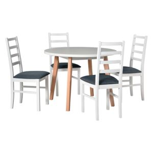 FURNITOP Dining Set DX9 - Table OSLO 3 + Chairs NILO 8 ( 4pcs.)