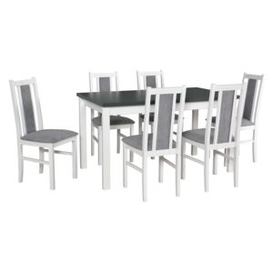 FURNITOP Dining Set DX18 - Table MAX 5P + Chairs BOS 14 ( 6pcs.)