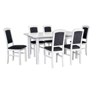 FURNITOP Dining Set DX24 - Table WENUS 2S + Chairs NILO 4 ( 6pcs.)