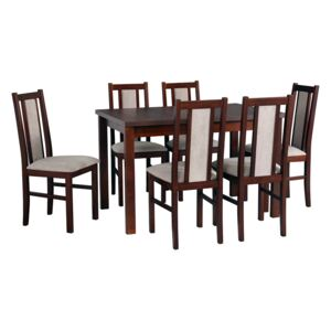 FURNITOP Dining Set DX20 - Table ALBA 2 + Chairs BOS 14 ( 6pcs.)