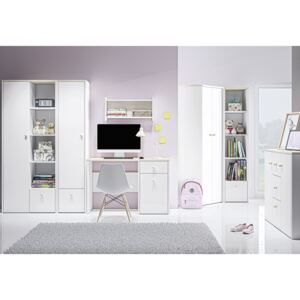 FURNITOP Youth Furniture CESAR 1 White + Fjord Beech