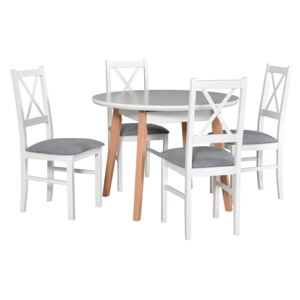 FURNITOP Dining Set DX10 - Table OSLO 4 + Chairs NILO 10 ( 4pcs.)