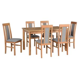 FURNITOP Dining Set DX22 - Table MODENA 1P + Chairs NILO 2 ( 6pcs.)