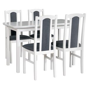 FURNITOP Dining Set DX5 - Table MAX 4 + Chairs BOS 7 ( 4pcs.)