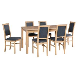 FURNITOP Dining Set DX23 - Table ALBA 2 + Chairs NILO 3 ( 6pcs.)