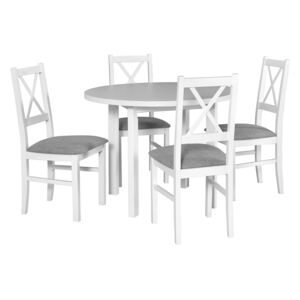 FURNITOP Dining Set DX11 - Table POLI 2 + Chairs NILO 10 ( 4pcs.)