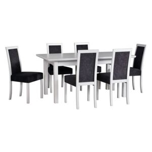 FURNITOP Dining Set DX37 - Table WENUS 5LS + Chairs ROMA 3 ( 6pcs.)