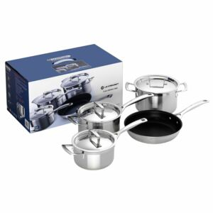 Le Creuset 3 Ply Stainless Steel 4 Piece Pan Set