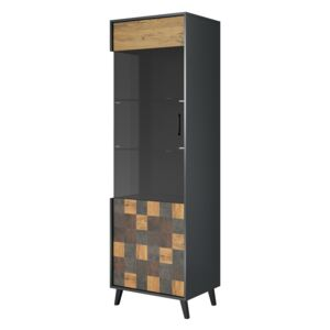 FURNITOP Display Cabinet SOUL anthracite / decor